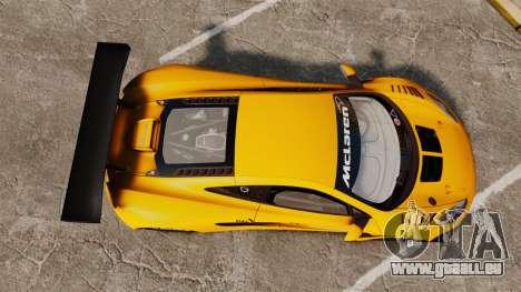 McLaren MP4-12C GT3 (Updated) für GTA 4 rechte Ansicht
