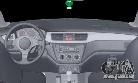 Mitsubishi Outlander Turbo 2005 pour GTA San Andreas vue intérieure