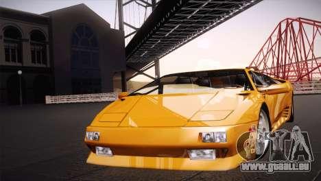 Lamborghini Diablo Stretch pour GTA San Andreas sur la vue arrière gauche
