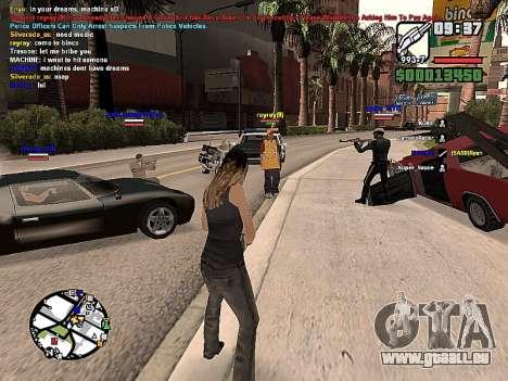 SA-MP 0.3z pour GTA San Andreas deuxième écran