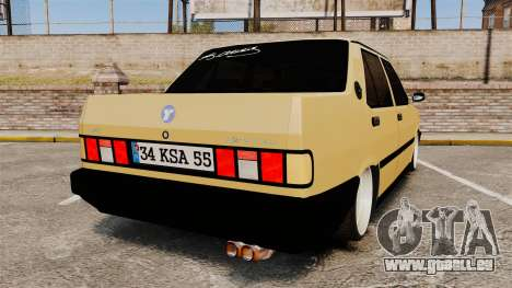 Tofas Dogan 1.6 i SLX pour GTA 4 Vue arrière de la gauche