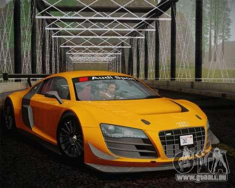 Audi R8 LMS Ultra Old Vinyls für GTA San Andreas zurück linke Ansicht