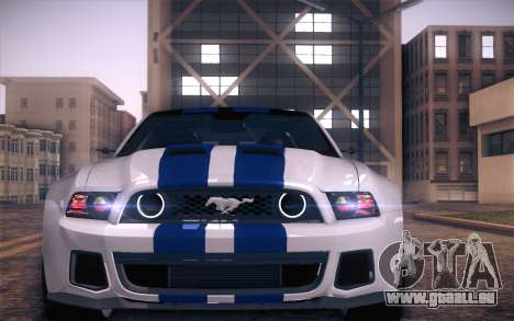Ford Mustang 2013 - Need For Speed Movie Edition pour GTA San Andreas