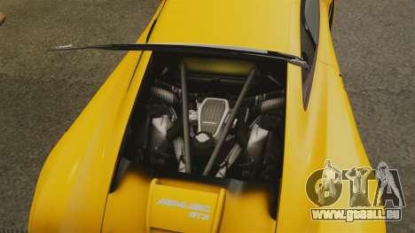 McLaren MP4-12C GT3 (Updated) pour GTA 4 est une vue de l'intérieur
