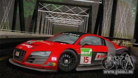 Audi R8 LMS Ultra Old Vinyls für GTA San Andreas Innenansicht