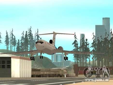 Tu-154 B-2 SCC Russland für GTA San Andreas zurück linke Ansicht