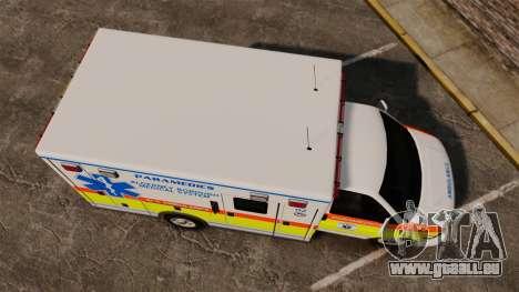 GMC Savana 2005 Ambulance [ELS] für GTA 4 rechte Ansicht