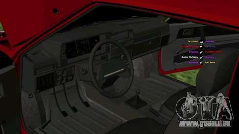 VAZ-2108 für GTA San Andreas Seitenansicht
