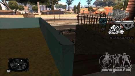 C-Hud Heavy Metal pour GTA San Andreas troisième écran
