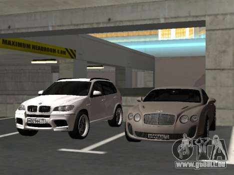 Bentley Continental Supersports für GTA San Andreas Innenansicht