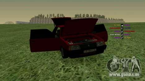 VAZ-2108 für GTA San Andreas obere Ansicht