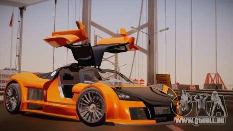 Gumpert Apollo Sport V10 pour GTA San Andreas laissé vue