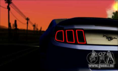 Ford Mustang GT 2013 v2 pour GTA San Andreas vue arrière