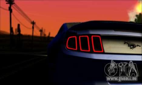 Ford Mustang GT 2013 v2 für GTA San Andreas Rückansicht