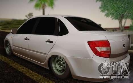 VAZ 2190 für GTA San Andreas zurück linke Ansicht