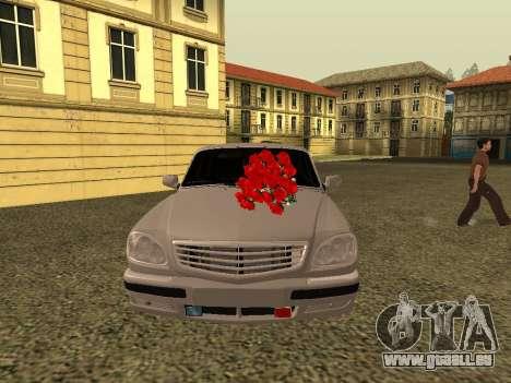 GAZ 31105 Volga pour GTA San Andreas laissé vue
