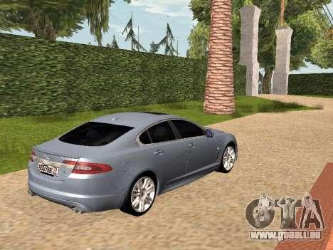 Jaguar XFR 2010 pour GTA San Andreas laissé vue