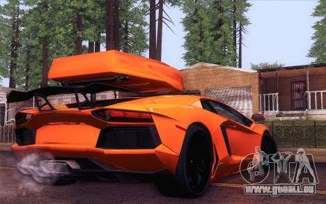 Lamborghini Aventador LP 700-4 pour GTA San Andreas laissé vue