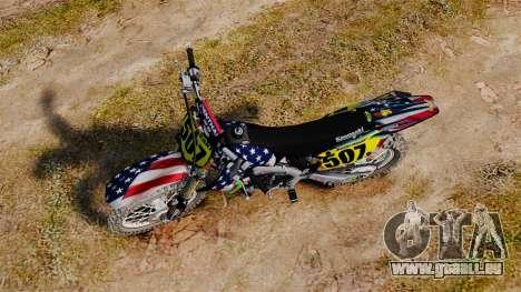 Kawasaki KX250F USA pour GTA 4 est un droit