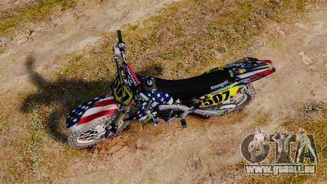 Kawasaki KX250F USA für GTA 4 rechte Ansicht