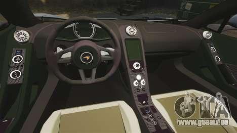 McLaren MP4-12C Spider 2013 pour GTA 4 est une vue de l'intérieur