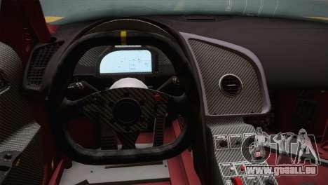 Audi R8 LMS Ultra Old Vinyls für GTA San Andreas Rückansicht