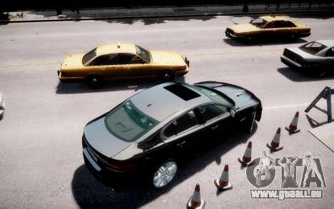 Jaguar XF-R 2012 v1.2 pour GTA 4 est une gauche