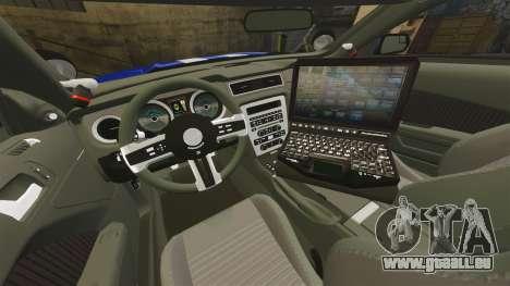 Ford Mustang GT 2015 Unmarked Police [ELS] pour GTA 4 est un côté