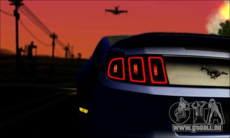 Ford Mustang GT 2013 v2 pour GTA San Andreas vue intérieure