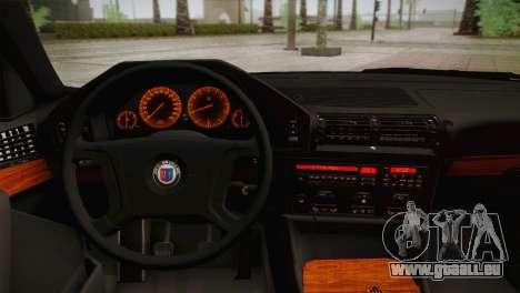 BMW E34 Alpina B10 pour GTA San Andreas vue arrière
