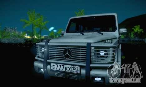Mercedes-Benz G500 für GTA San Andreas obere Ansicht