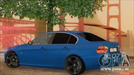 BMW 330i pour GTA San Andreas laissé vue