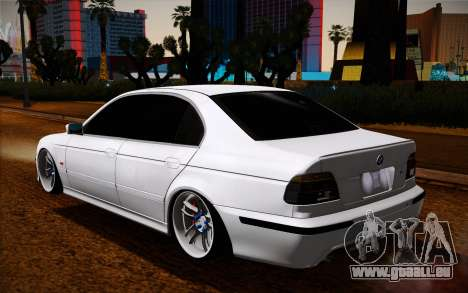 BMW M5 E39 für GTA San Andreas zurück linke Ansicht