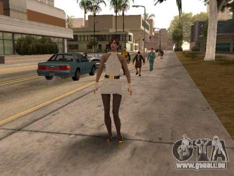 Mädchen im weißen Kleid für GTA San Andreas dritten Screenshot