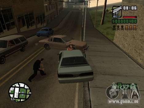 Le Ketchup sur le capot pour GTA San Andreas quatrième écran