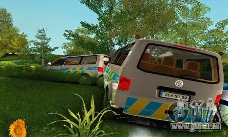 Volkswagen Transporter Policie pour GTA San Andreas vue de dessus