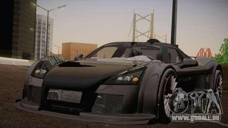 Gumpert Apollo Sport V10 pour GTA San Andreas vue arrière