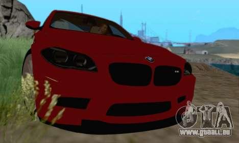 BMW M5 F10 v1.1 pour GTA San Andreas laissé vue