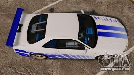 Nissan Skyline GT-R R34 V-Spec 1999 pour GTA 4 est un droit