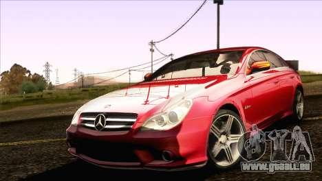 Mercedes-Benz CLS 63 AMG 2008 pour GTA San Andreas laissé vue