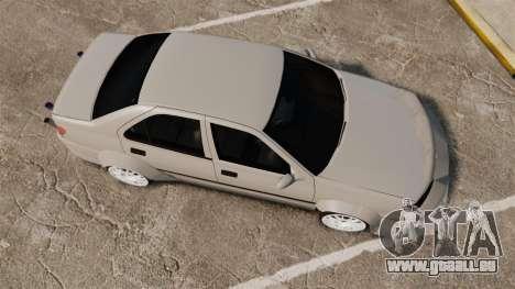Peugeot 406 v2.0 pour GTA 4 est un droit