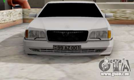 Mercedes-Benz 600SEL pour GTA San Andreas sur la vue arrière gauche