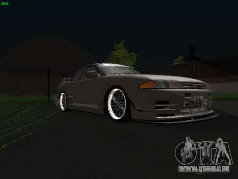 Nissan Skyline BNR32 pour GTA San Andreas sur la vue arrière gauche