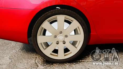 Toyota Camry pour GTA 4 Vue arrière