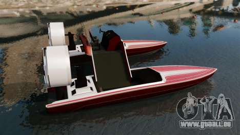 Catamaran-Jetmax Aero- pour GTA 4 est une gauche