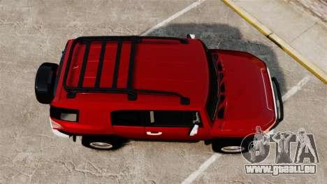 Toyota FJ Cruiser 2012 pour GTA 4 est un droit