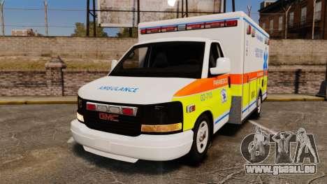 GMC Savana 2005 Ambulance [ELS] für GTA 4