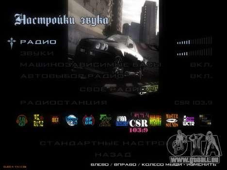 Menu NFS pour GTA San Andreas troisième écran