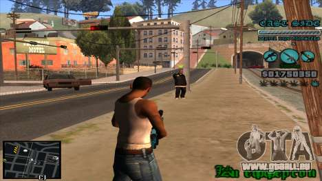 C-HUD Lane Gangsters für GTA San Andreas dritten Screenshot