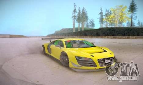 Audi R8 LMS Ultra v1.0.0 für GTA San Andreas Innenansicht
